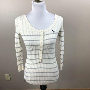 Abercrombie & Fitch Striped Stretch Sweater